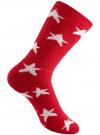 Носки махровые с принтом oodji #SECTION_NAME# (красный), 57102444/45842/4512G