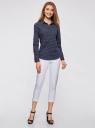 Рубашка базовая с нагрудными карманами oodji для женщины (синий), 11403222B/42468/7912G