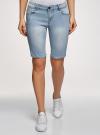 Шорты джинсовые удлиненные oodji #SECTION_NAME# (синий), 12807054B/45877/7000W - вид 2