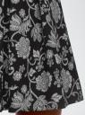 Юбка принтованная со встречными складками oodji для женщины (черный), 11600396-2B/45559/2912F