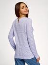Джемпер ажурной вязки oodji для женщины (фиолетовый), 63805346/22179/8000N - вид 3
