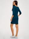 Платье трикотажное базовое oodji #SECTION_NAME# (синий), 14001071-2B/46148/7901N - вид 3