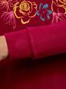 Свитшот хлопковый с принтом oodji для женщины (красный), 14801045-14/48015/4919P