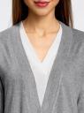 Кардиган без застежки с декоративными карманами oodji #SECTION_NAME# (серый), 73212397/45904/2300M - вид 4