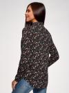 Блузка вискозная с нагрудными карманами oodji #SECTION_NAME# (черный), 21411126-1/48458/2945E - вид 3