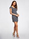 Платье хлопковое со сборками на груди oodji #SECTION_NAME# (синий), 11902047-2B/14885/7930F - вид 6