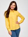 Блузка базовая из вискозы oodji #SECTION_NAME# (желтый), 11411136B/26346/5100N - вид 2