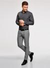 Рубашка базовая приталенного силуэта oodji #SECTION_NAME# (серый), 3B110012M/23286N/2500N - вид 6