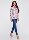 Блузка принтованная из вискозы oodji для женщины (розовый), 11411098-1/24681/4062Q