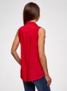 Топ вискозный с рубашечным воротником oodji #SECTION_NAME# (красный), 14911009B/26346/4500N - вид 3