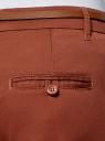 Брюки-чиносы с ремнем oodji для женщины (красный), 11706193B/42841/3101N