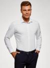 Рубашка приталенного силуэта с длинным рукавом oodji для мужчины (белый), 3L110368M/49382N/1029S - вид 2