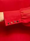 Платье прямого силуэта из струящейся ткани oodji #SECTION_NAME# (красный), 11900150-13/13632/4500N - вид 5