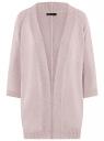 Кардиган меланжевый без застежки oodji для женщины (розовый), 63205251/18369/4023M