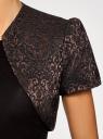 Жакет-болеро из жаккардовой ткани oodji #SECTION_NAME# (коричневый), 22A00003-1/38560/3929J - вид 5