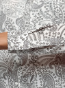 Блузка прямого силуэта с нагрудным карманом oodji #SECTION_NAME# (белый), 11411134-1B/48853/1229E - вид 5