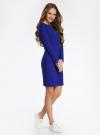 Платье трикотажное облегающего силуэта oodji для женщины (синий), 14001183B/46148/7500N - вид 6