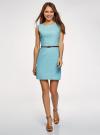 Платье льняное без рукавов oodji #SECTION_NAME# (синий), 12C00002-1B/16009/7000N - вид 2