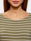 Платье трикотажное базовое oodji #SECTION_NAME# (зеленый), 14001071-2B/46148/6630S - вид 4