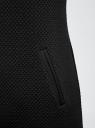 Трикотажное платье oodji для женщины (черный), 24001100-2M/42408/2900N