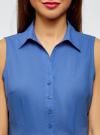 Рубашка базовая без рукавов oodji #SECTION_NAME# (синий), 11405063-4B/45510/7500N - вид 4