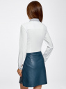 Рубашка базовая с нагрудным карманом oodji #SECTION_NAME# (белый), 11403205-10/26357/1079B - вид 3