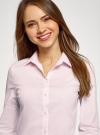 Блузка приталенная в горошек oodji #SECTION_NAME# (розовый), 11403227/46079/1040G - вид 4