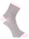 Комплект из трех пар носков oodji для женщины (разноцветный), 57102466T3/47469/19DIN