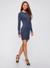 Платье вязаное базовое oodji для женщины (синий), 73912217-2B/33506/7500M - вид 6