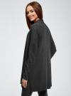 Кардиган без застежки с накладными карманами oodji для женщины (серый), 63212600/48514/2500M - вид 3