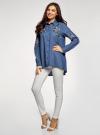Рубашка джинсовая с вышивкой oodji #SECTION_NAME# (синий), 16A09009/42706/7900P - вид 6