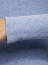 Водолазка хлопковая с пуговицами на горловине oodji #SECTION_NAME# (синий), 15E11022/48959/7500M - вид 5