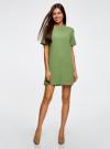 Платье из плотной ткани с молнией на спине oodji #SECTION_NAME# (зеленый), 21910002/42354/6200N - вид 2