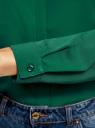 Блузка из струящейся ткани oodji #SECTION_NAME# (зеленый), 11400368-3/32823/6E00N - вид 5