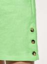 Платье льняное с коротким цельнокроеным рукавом  oodji для женщины (зеленый), 12C13012/16009/6A00N