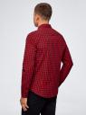 Рубашка хлопковая в клетку oodji #SECTION_NAME# (красный), 3L310168M/48837N/4529C - вид 3