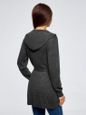 Кардиган с поясом и накладными карманами oodji #SECTION_NAME# (серый), 63212601/43755/2500M - вид 3