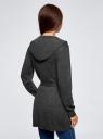 Кардиган с поясом и накладными карманами oodji для женщины (серый), 63212601/43755/2500M