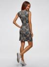 Платье трикотажное облегающего силуэта oodji #SECTION_NAME# (черный), 24005126-2/18610/2952F - вид 3