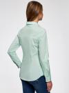 Рубашка приталенная с нагрудными карманами oodji #SECTION_NAME# (зеленый), 11403222-3/42468/6500N - вид 3