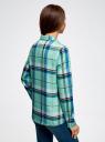 Блузка принтованная из вискозы oodji #SECTION_NAME# (зеленый), 11411098-4/45208/6575C - вид 3