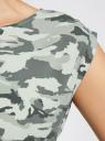 Платье вискозное без рукавов oodji #SECTION_NAME# (зеленый), 11910073B/26346/6062O - вид 5