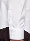 Рубашка базовая из фактурной ткани oodji #SECTION_NAME# (белый), 3B110017M/47184N/1000N - вид 5