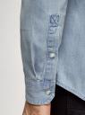 Рубашка джинсовая с нагрудным карманом oodji #SECTION_NAME# (синий), 6L410003M/35771/7000W - вид 5