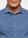 Рубашка приталенного силуэта принтованная oodji #SECTION_NAME# (синий), 3L110260M/19370N/1079G - вид 4