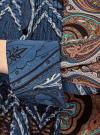 Блузка свободного силуэта с декоративными отстрочками на груди oodji #SECTION_NAME# (синий), 21411110/42549/7933E - вид 5