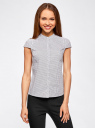 Рубашка с коротким рукавом из хлопка oodji #SECTION_NAME# (белый), 11403196-3/26357/1079G - вид 2