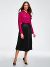 Блузка из струящейся ткани с украшением из страз oodji #SECTION_NAME# (розовый), 11411128/36215/4700N - вид 6
