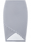 Юбка трикотажная с асимметричным низом oodji #SECTION_NAME# (белый), 14101081B/45500/1279S