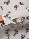Блузка прямого силуэта на подкладке oodji #SECTION_NAME# (белый), 11411190/48854/1245F - вид 5